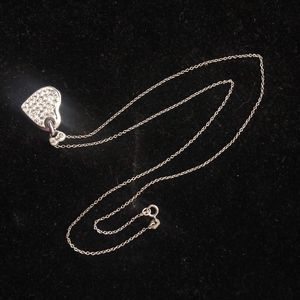 925 Sterling Silver Heart Necklace and Chain